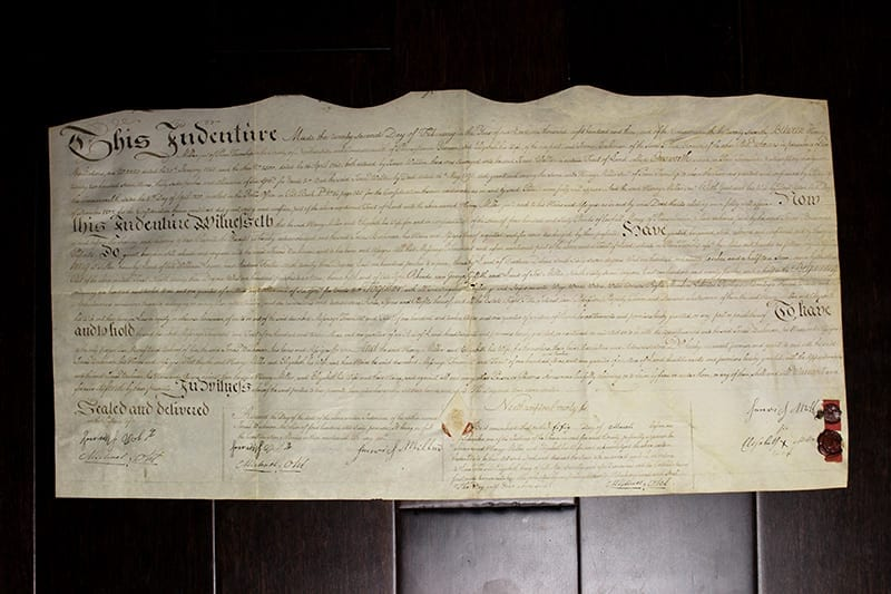 """Indentured Servitude Document With Seal (USA, 1767) 11"""" x ..."""